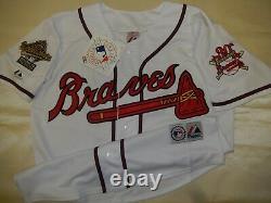 0812 Majestic 1995 Atlanta Braves CHIPPER JONES World Series Baseball JERSEY New