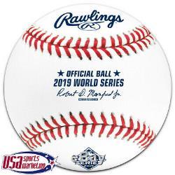 (12) 2019 World Series Official Rawlings MLB Game Baseball Boxed Dozen