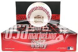 (12) Rawlings 2016 World Series MLB Official Game Baseball Boxed Dozen
