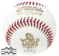 (12) Rawlings 2017 World Series Game Baseball Houston Astros Boxed Dozen
