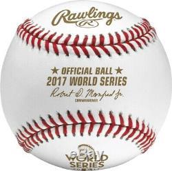 (12) Rawlings 2017 World Series MLB Official Game Baseball Boxed Dozen