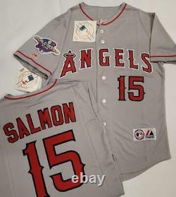 1630 Anaheim Angels TIM SALMON 2002 World Series Baseball Jersey GRAY New