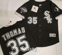 1805 Chicago White Sox FRANK THOMAS 2005 World Series Baseball Jersey BLACK New