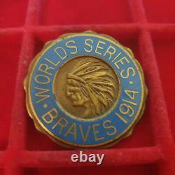 1914 Boston Braves World Series Press Pin