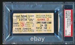 1919 World Series Game 6 Ticket Stub PSA 1 BLACK SOX