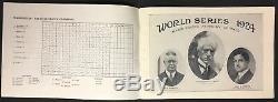 1924 World Series Program Griffith Stadium Washington Senators New York Giants