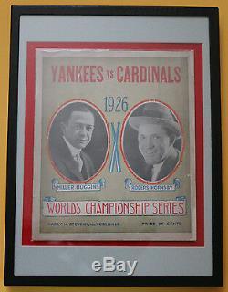 1926 New York Yankees vs. St. Louis Cardinals World Series program withBabe Ruth