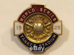 1926 World Series New York Yankees Baseball Press Pin NYY St. Louis Cardinals