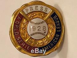 1928 World Series New York Yankees Baseball Press Pin NYY St. Louis Cardinals