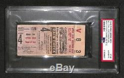 1928 World Series Yankees 3rd Ws Title Babe Ruth 3 Home Runs Hr's Ticket Psa