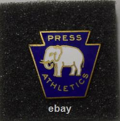 1929 Philadelphia Athletics A's Cubs World Series Press Pin Cobb Super Rare