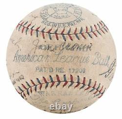 1929 Philadelphia Athletics A's World Series Champs Team Signed Baseball JSA COA