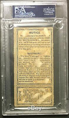 1930 World Series Game 2 Ticket PSA Authentic Philadelphia Athletics v Cardinals