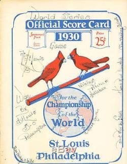 1930 World Series St. Louis Cardinals vs Philadelphia Athletics Program EX