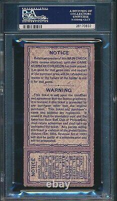1930 World Series Ticket Game 2 Shibe Park PSA 5 (EX) Highest Graded