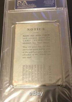 1932 Psa Babe Ruth LAST WORLD SERIES GAME @ Yankees Stadium Game 2 TICKET STUB
