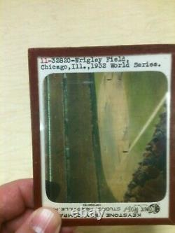 1932 World Series New York Yankees Chicago Cubs Glass Slide Beautiful Babe Ruth