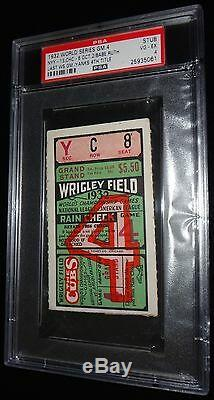 1932 World Series Ny Yankees 4th Ws Title Babe Ruth Last Ws Game 4 Ticket Psa 4