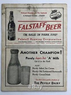 1934 World Series Program-Sportsmans Park-St. Louis