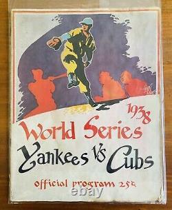 1938 MLB World Series Program NY Yankees Chicago Cubs Yankee Stadium Lou Gehrig