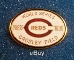 1939 Cincinnati Reds World Series Baseball Press Pin