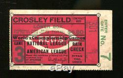 1939 World Series Ticket Game 3 Yankees v Reds DiMaggio Keller Dickey HR 23068