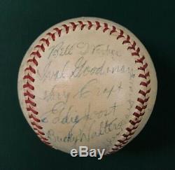 1940 Cincinnati Reds Team Signed Baseball World Series Champs Autograph Auto