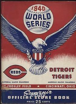 1940 World Series Program Cincinnati Reds vs. Detroit Tigers