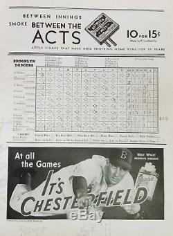 1941 World Series Program New York Yankees vs Brooklyn Dodgers