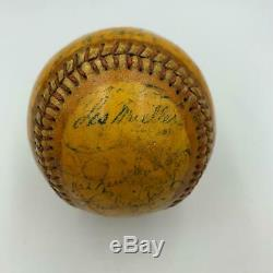 1945 Detroit Tigers World Series Champs Team Signed Baseball With Hank Greenberg
