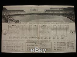 1945 World Series Program Chicago Cubs @ Detroit Tigers Scored