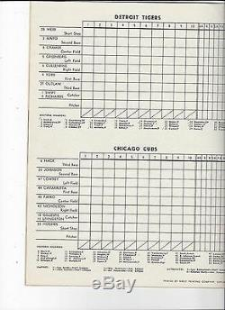 1945 World Series program Chicago Cubs Detroit Tigers UNSCORED Wrigley Field