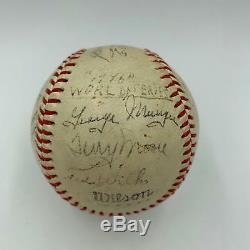 1946 St. Louis Cardinals World Series Champs Team Signed Baseball Musial JSA COA