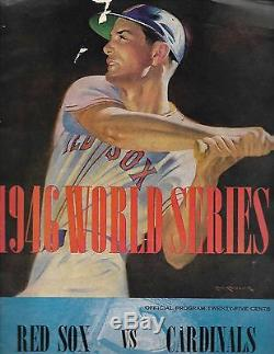 1946 World Series Program Red Sox-Cardinals Fenway Park Edition NICE