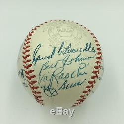 1947 NY Yankees World Series Champs Team Signed Baseball Joe Dimaggio JSA COA