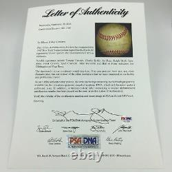 1947 NY Yankees World Series Champs Team Signed Baseball Joe Dimaggio PSA DNA