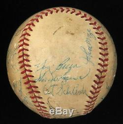 1953 New York Yankees World Series Champs Team Signed Baseball Mickey Mantle JSA