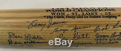 1954 NY GIANTS WORLD SERIES TEAM SIGNED BAT 18 auto Willie Mays IRVIN MT JSA COA