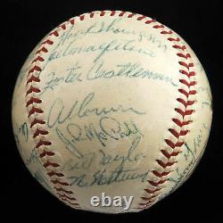 1954 New York Giants World Series Champs Team Signed Baseball Willie Mays JSA