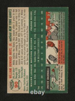 1954 Topps #90 Willie Mays Strong Card Priced Right New York Giants World Series