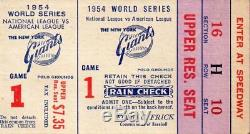 1954 World Series Ticket Stub Game 1. Willie Mays Catch. Reasonable Minimum