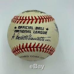 1955 Brooklyn Dodgers World Series Champs Team Signed Baseball Sandy Koufax JSA