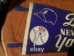1955 Dodgers New York Yankees World Series Pennant from 3rd game original owner