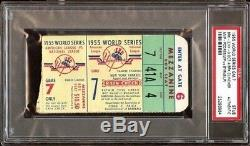 1955 World Series GM 7 Brooklyn Dodgers Champs Ticket Pass Jackie Robinson Steal