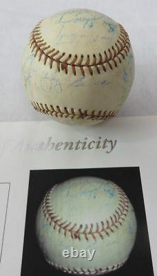 1956 NY Yankees World Series Champs Team Signed Baseball (Mantle, Berra) JSA COA