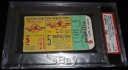 1956 World Series Game 5 Ticket Yankees Mantle Hr #8 Don Larsen Perfect Game Psa