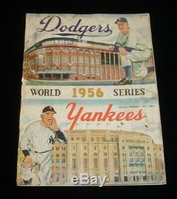 1956 World Series Program NY Yankees @ Brooklyn Dodgers scored Game #2