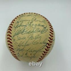 1957 Milwaukee Braves World Series Champs Team Signed Baseball With JSA COA