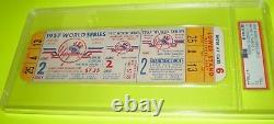 1957 World Series Full Ticket Gm 2 Braves Yankees Oct 3 Burdette Shantz Psa 5