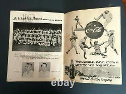 1957 World Series Official Program Milwaukee Braves vs New York Yankees